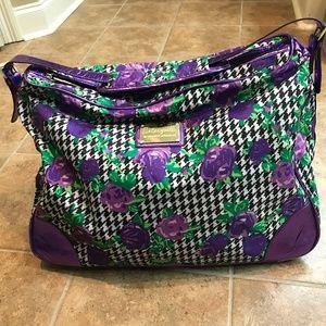 Betsey Johnson Rose Herringbone Weekend Travel Bag
